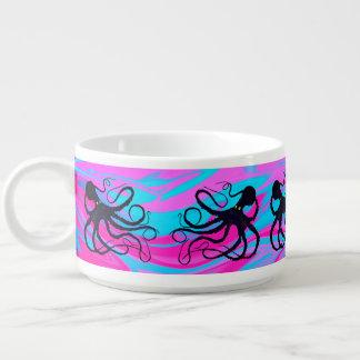 Tigela De Sopa Polvo em cor-de-rosa & no azul - bacia do pimentão