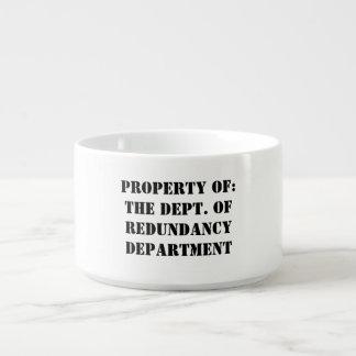 Tigela De Sopa Propriedade do departamento da redundância