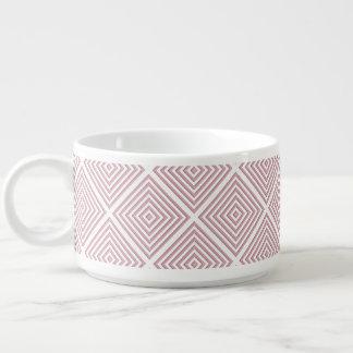 Tigela De Sopa Quadrados geométricos cor-de-rosa