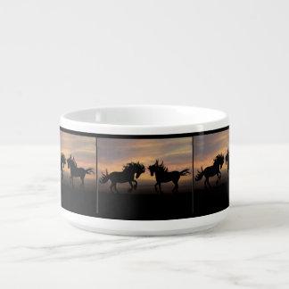 Tigela De Sopa Silhueta do cavalo