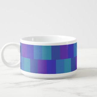 Tigela De Sopa Teste padrão azul moderno da paleta