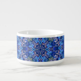 Tigela De Sopa Teste padrão floral da aguarela do lux lunático à