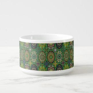 Tigela De Sopa Teste padrão floral étnico abstrato colorido da