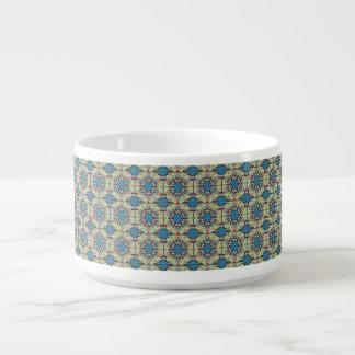 Tigela De Sopa Teste padrão floral étnico abstrato colorido de da