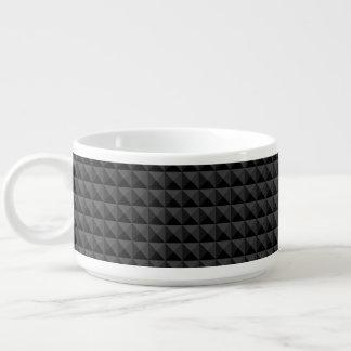 Tigela De Sopa Teste padrão geométrico moderno do quadrado preto