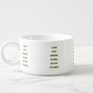 Tigela De Sopa Texto engraçado do sabão