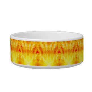 Tigela Design geométrico do cubo do Sunburst amarelo