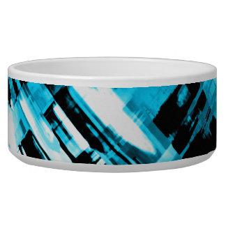 Tigela Digitalart quente G253 do abstrato do preto azul