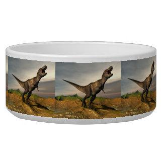 Tigela Dinossauro do rex do tiranossauro - 3D rendem