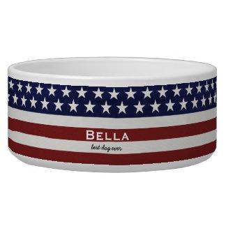 Tigela EUA bandeira americana costume patriótico do 4 de