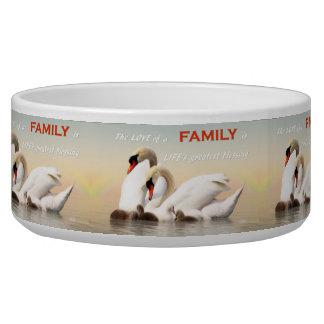 Tigela Família da cisne
