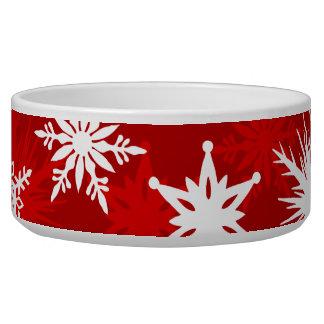 Tigela Flocos de neve festivos do Natal