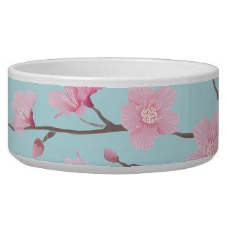 Tigela Flor de cerejeira - azul-céu