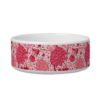 Tigela Floral Jacobean de William Morris, rosa do coral
