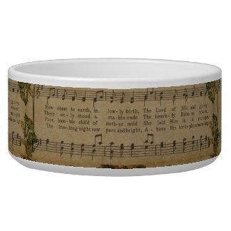 Tigela Folha de música da canção de natal do natal