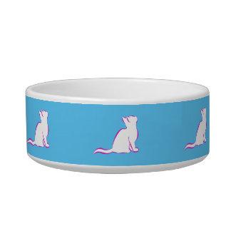 Tigela Gato cor-de-rosa, suficiência branca