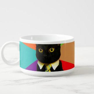 Tigela gato do negócio - gato preto
