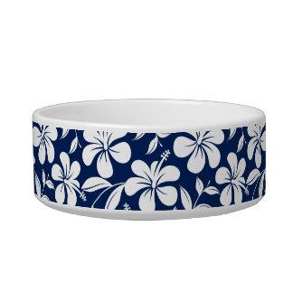 Tigela Hibiscus azul & branco