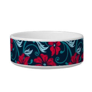 Tigela Hibiscus vermelho bordado impresso