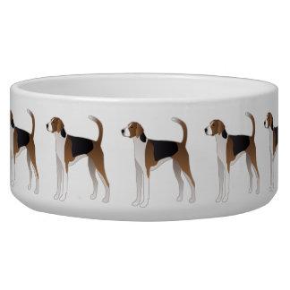 Tigela Ilustração básica da raça do cão do Foxhound