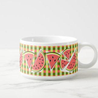 Tigela Linha bacia da melancia do pimentão da verificação