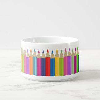Tigela Linha de coro colorida do lápis