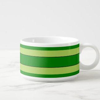 Tigela Listras claras e verdes escuro