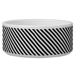 Tigela Listras preto e branco