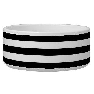 Tigela Listras preto e branco grandes