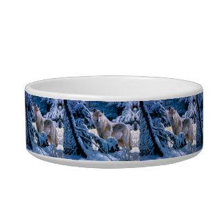 Tigela Lobo ártico - lobo branco - arte do lobo