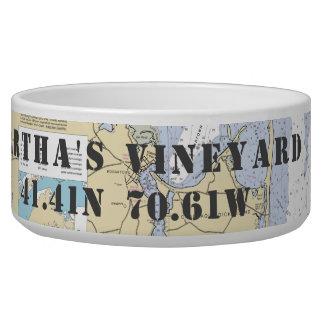 Tigela Longitude náutica da latitude do Martha's Vineyard