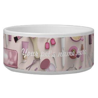 Tigela Mesa cor-de-rosa da vaidade