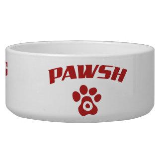 Tigela Nome personalizado Pawsh do cão fino