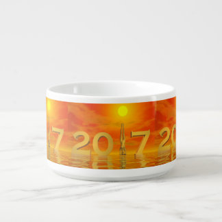 Tigela O feliz ano novo 2017 do zen - 3D rendem