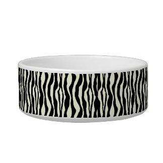 Tigela O impressão chique da zebra peroliza o prato