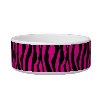 Tigela O impressão cor-de-rosa chique da zebra peroliza o