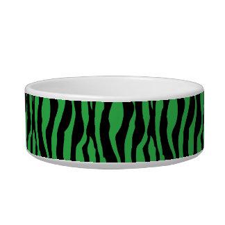 Tigela O impressão verde chique da zebra peroliza o prato