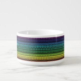 Tigela Ornamento colorido do arco-íris