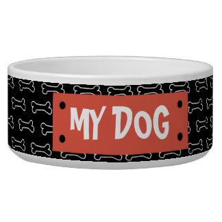 Tigela Osso e Tag de cão personalizados