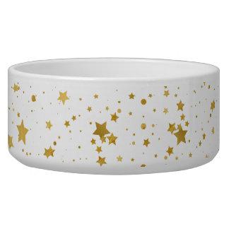 Tigela Ouro Stars2 - Branco puro