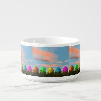 Tigela Ovos coloridos para a páscoa - 3D rendem