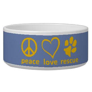Tigela Paz/amor/salvamento Bacia-Azul