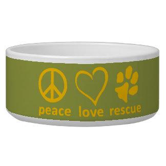 Tigela Paz/amor/salvamento Bacia-Verde