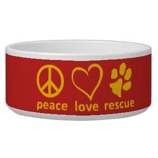 Tigela Paz/amor/salvamento Bacia-Vermelho