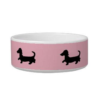 Tigela Prato de Doxie do cão do Wiener da bacia dos