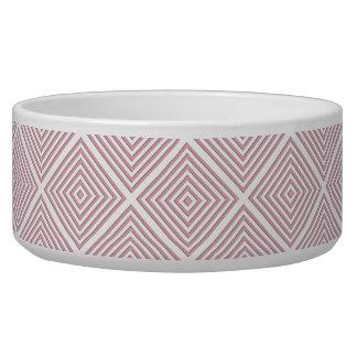 Tigela Quadrados geométricos cor-de-rosa
