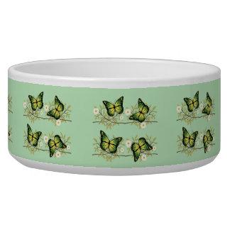 Tigela Quatro borboletas verdes