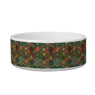 Tigela Retalhos do vintage com elementos florais da