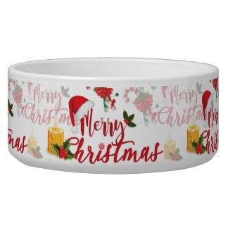 Tigela Roteiro da caligrafia do Feliz Natal