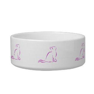 Tigela Silhueta cor-de-rosa do gato
